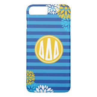 Delta Delta Delta | Monogram Stripe Pattern iPhone 8 Plus/7 Plus Case