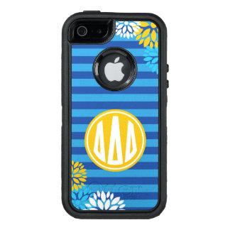 Delta Delta Delta | Monogram Stripe Pattern OtterBox Defender iPhone Case