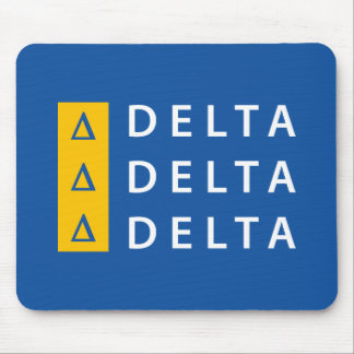 Delta Delta Delta | Stacked Mouse Pad