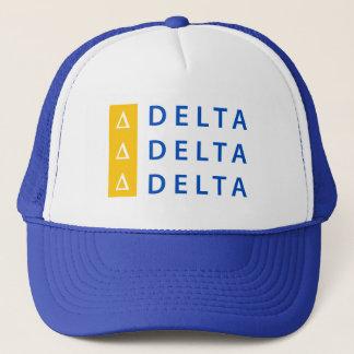 Delta Delta Delta | Stacked Trucker Hat