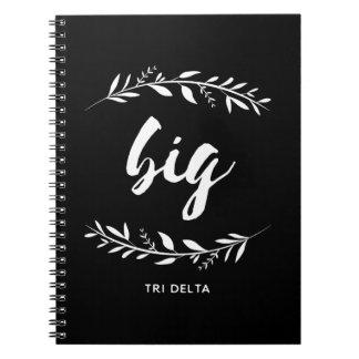 Delta Delta Dleta | Big Wreath Notebook