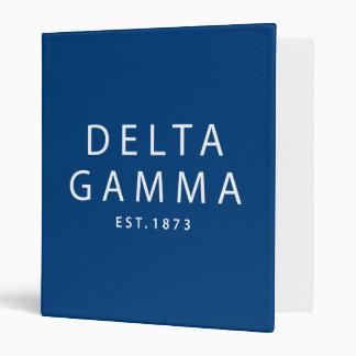 Delta Gamma | Est. 1873 Binder