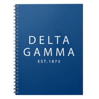 Delta Gamma | Est. 1873 Notebook
