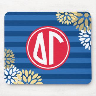 Delta Gamma | Monogram Stripe Pattern Mouse Pad