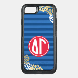 Delta Gamma | Monogram Stripe Pattern OtterBox Commuter iPhone 8/7 Case
