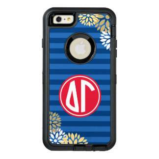 Delta Gamma | Monogram Stripe Pattern OtterBox Defender iPhone Case