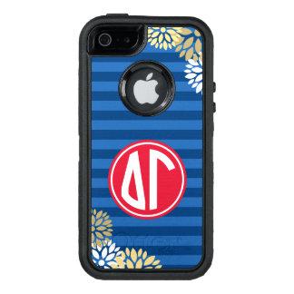 Delta Gamma | Monogram Stripe Pattern OtterBox Defender iPhone Case