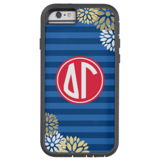 Delta Gamma | Monogram Stripe Pattern Tough Xtreme iPhone 6 Case
