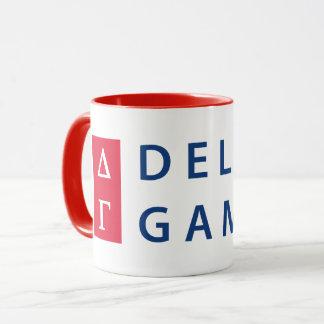 Delta Gamma   Stacked Logo Mug