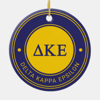 Delta Kappa Epsilon | Badge Ceramic Ornament