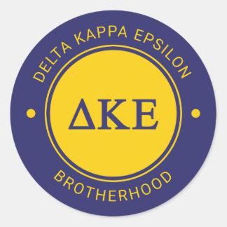 Delta Kappa Epsilon   Badge Classic Round Sticker
