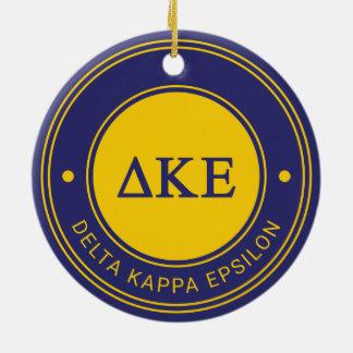 Delta Kappa Epsilon   Badge Round Ceramic Ornament