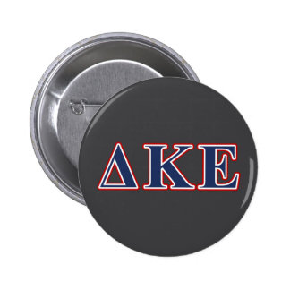 Delta Kappa Epsilon Blue and Red Letters 2 Inch Round Button