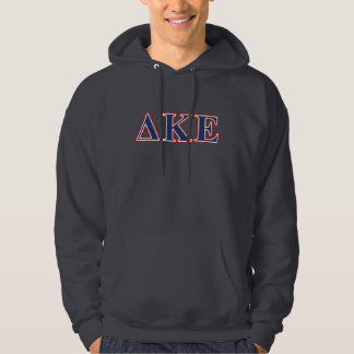 Delta Kappa Epsilon Blue and Red Letters Hoodie