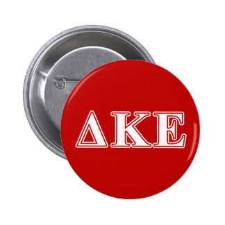 Delta Kappa Epsilon White and Red Letters 2 Inch Round Button