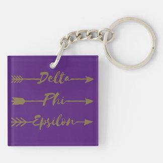 Delta Phi Epsilon Arrow Keychain