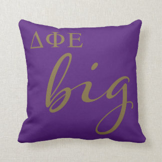 Delta Phi Epsilon Big Script Throw Pillow