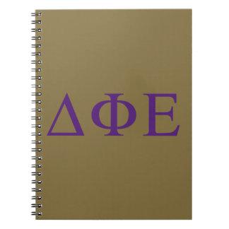 Delta Phi Epsilon Lil Big Logo Notebook