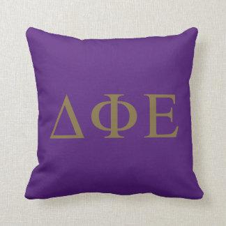 Delta Phi Epsilon Lil Big Logo Throw Pillow