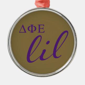 Delta Phi Epsilon Lil Script Metal Ornament