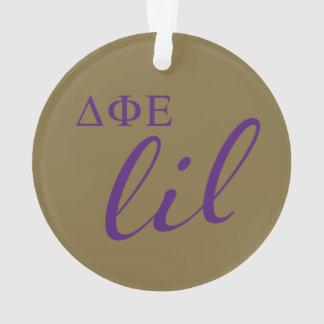 Delta Phi Epsilon Lil Script Ornament
