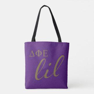 Delta Phi Epsilon Lil Script Tote Bag