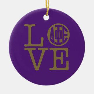 Delta Phi Epsilon Love Ceramic Ornament