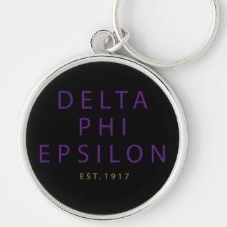 Delta Phi Epsilon Modern Type Keychain