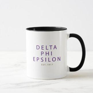 Delta Phi Epsilon Modern Type Mug