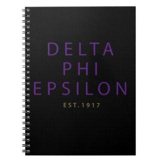 Delta Phi Epsilon Modern Type Notebook