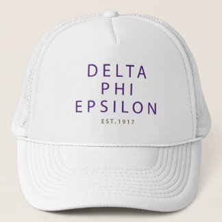 Delta Phi Epsilon Modern Type Trucker Hat