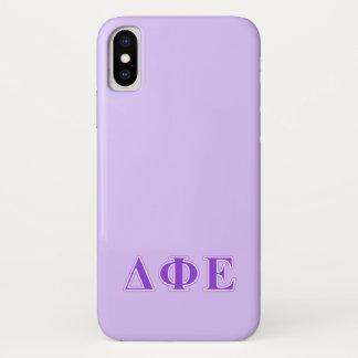 Delta Phi Epsilon Purple and Lavender Letters Case-Mate iPhone Case