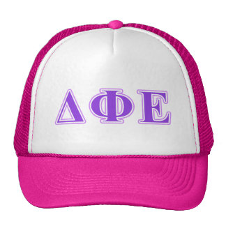 Delta Phi Epsilon Purple and Lavender Letters Trucker Hat