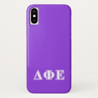 Delta Phi Epsilon White and Purple Letters Case-Mate iPhone Case