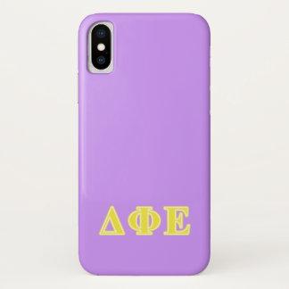 Delta Phi Epsilon Yellow Letters Case-Mate iPhone Case