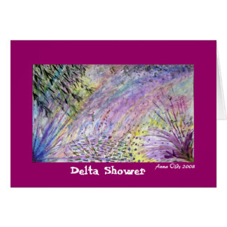 Delta Shower Card