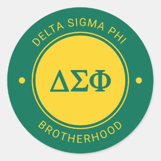 Delta Sigma Phi   Badge Classic Round Sticker