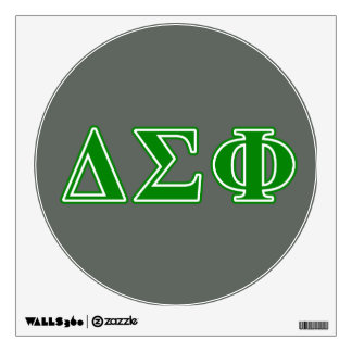 Delta Sigma Phi Green Letters Wall Sticker