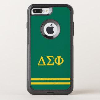 Delta Sigma Phi | Sport Stripe OtterBox Commuter iPhone 8 Plus/7 Plus Case
