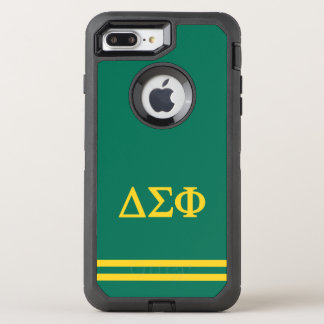 Delta Sigma Phi | Sport Stripe OtterBox Defender iPhone 8 Plus/7 Plus Case