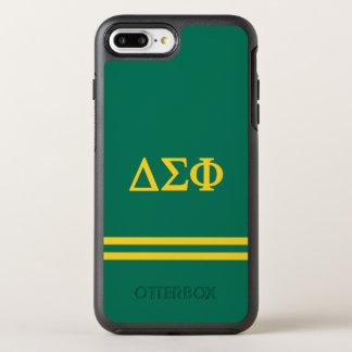 Delta Sigma Phi | Sport Stripe OtterBox Symmetry iPhone 8 Plus/7 Plus Case