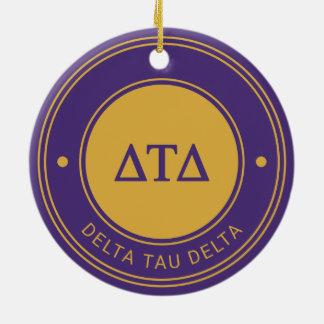 Delta Tau Delta | Badge Ceramic Ornament