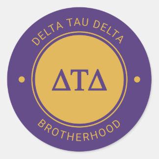 Delta Tau Delta   Badge Classic Round Sticker