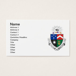 Delta Tau Delta Coat of Arms Business Card