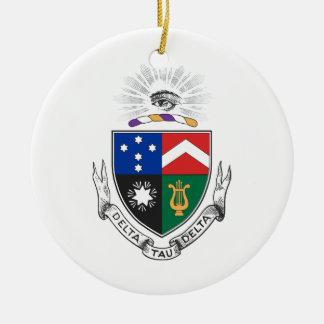 Delta Tau Delta Coat of Arms Round Ceramic Ornament