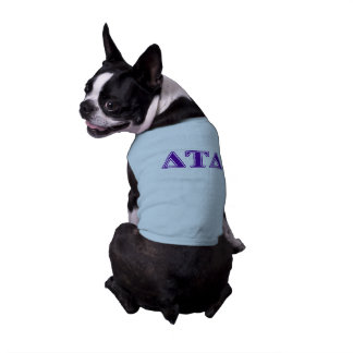 Delta Tau Delta Purple Letters Shirt