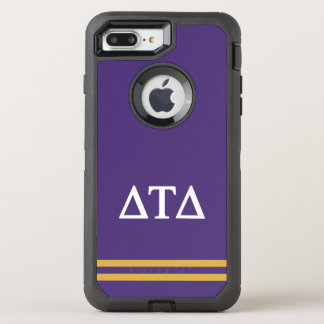 Delta Tau Delta | Sport Stripe OtterBox Defender iPhone 8 Plus/7 Plus Case