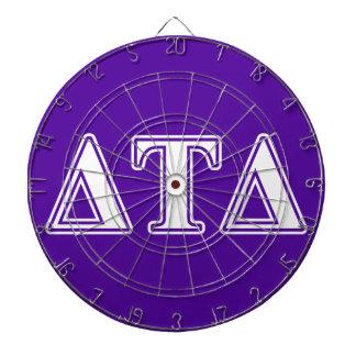 Delta Tau Delta White and Purple Letters Dartboard