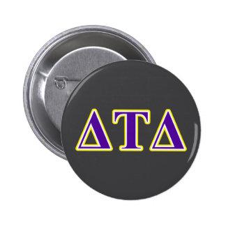 Delta Tau Delta Yellow and Purple Letters 2 Inch Round Button