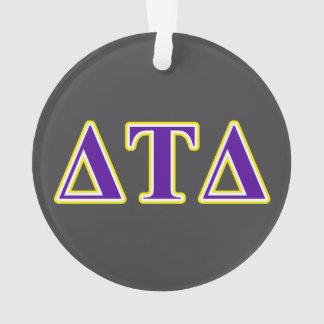 Delta Tau Delta Yellow and Purple Letters Ornament
